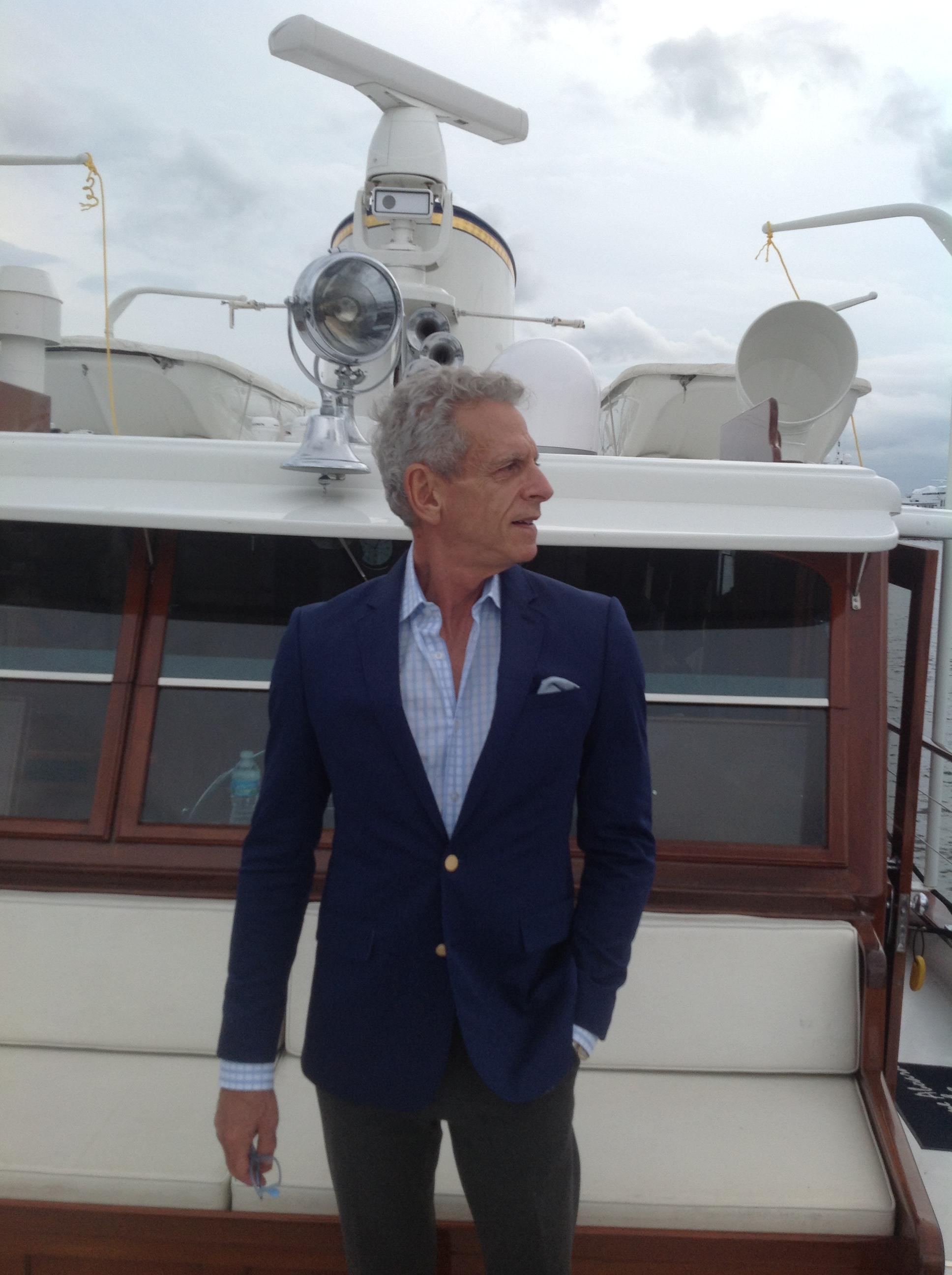 René Silvin on deck