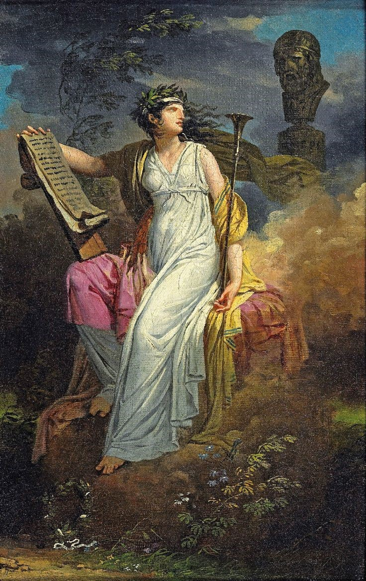 Charles Meynier's painting of Calliope, Muse of Epic Poetry