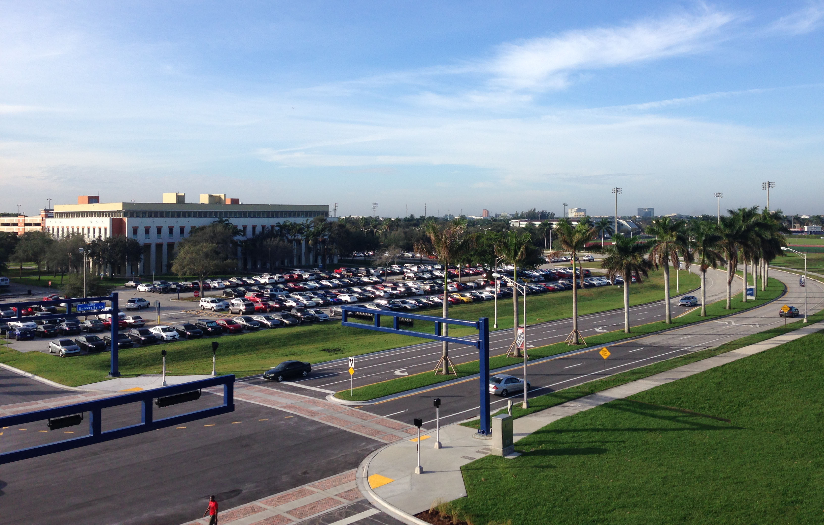 FAU Parking Lot from Stadium
