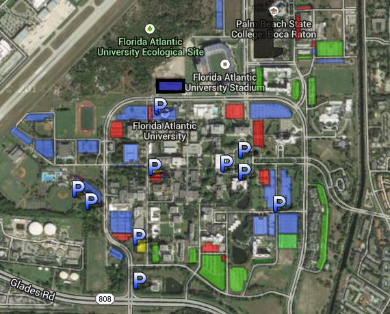 FAU Parking Google Map