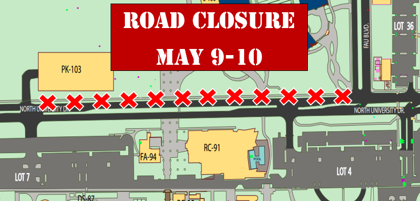 Road Closure May 9-10 2016