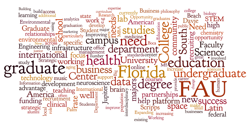 Wordle: FAU Strategic Planning Forum